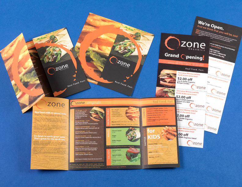 Ozone Organics Menu & Direct Mail Coupon